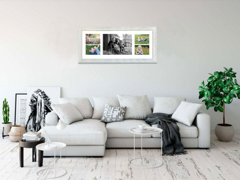 How to display family photos on the wall
