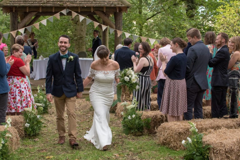 Laura and Ashley's outdoor wedding, Pitt Hall Barn, Hampshire